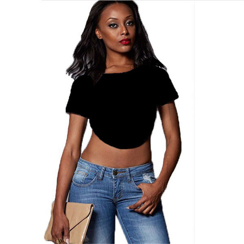 03baed8c59672 Get Quotations · 2015 New Fashion Crop Tops Short Sleeve Backless Shirt  Blusas Sexy Blouse Woman Clothes Roupas Femininas