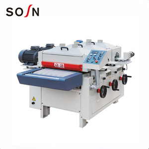 three spindle wood wire drawing machine for bamboo and wood products