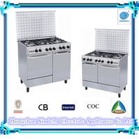 Uganda good quality 36 inch 900mm Free standing gas cooker with gas stove double oven for bread pizza