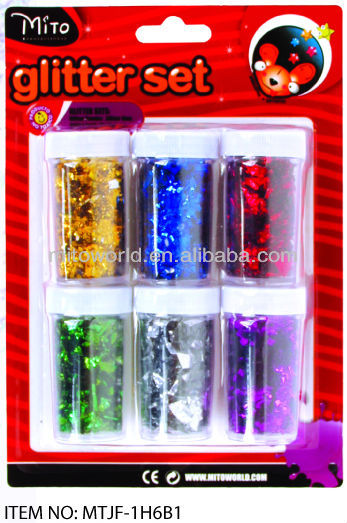 6g colorful blinking glitter piece