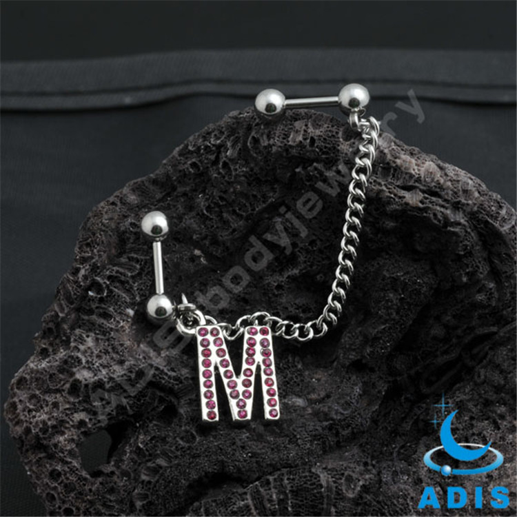 Stainless Steel Body Jewelry Chain Ear Piercing
