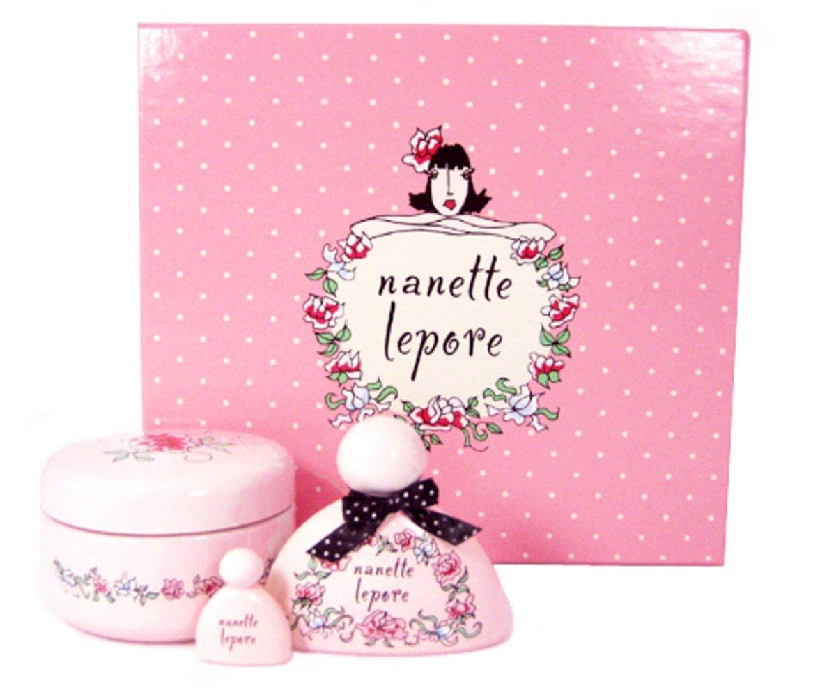 Nanette Lepore for Women Gift Set - 1.7 oz EDP Spray + 6.8 oz Body Cream (In Jar) + 0.10 oz Parfum Mini