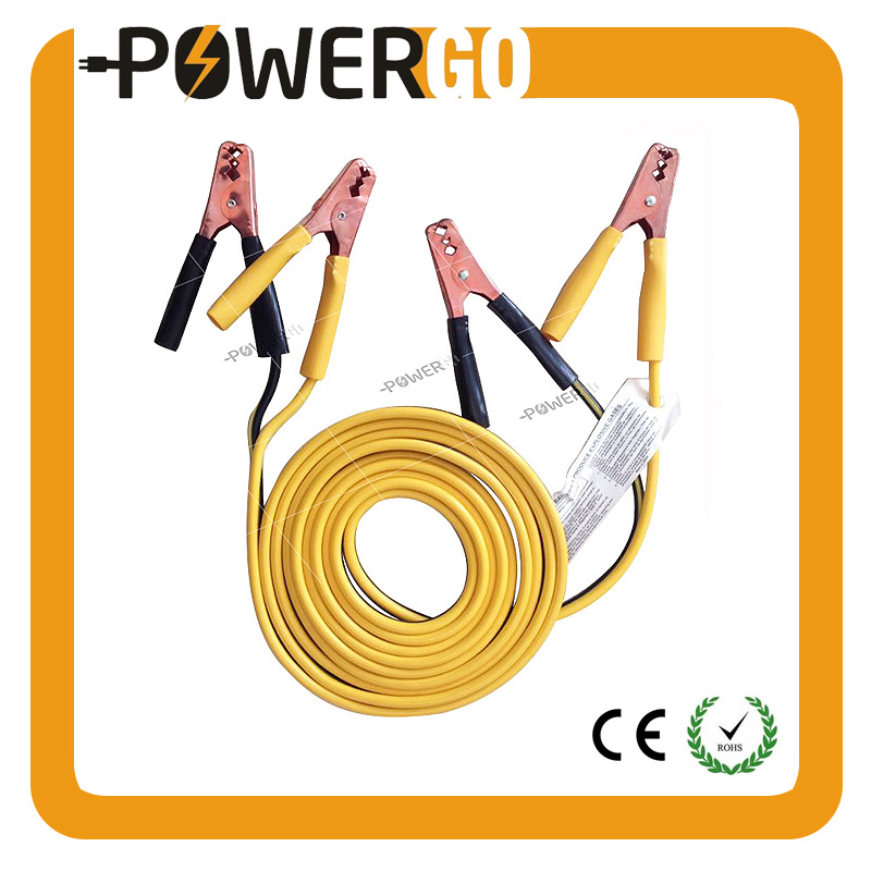 Jumper Cable Kit 12' Foot 8 Gauge Booster Cables Heavy Duty Clamp with Copper Jaws