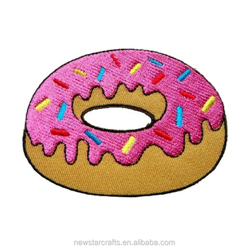 Cute Strawberry Donut Embroidery Iron On Patches Buy Cute