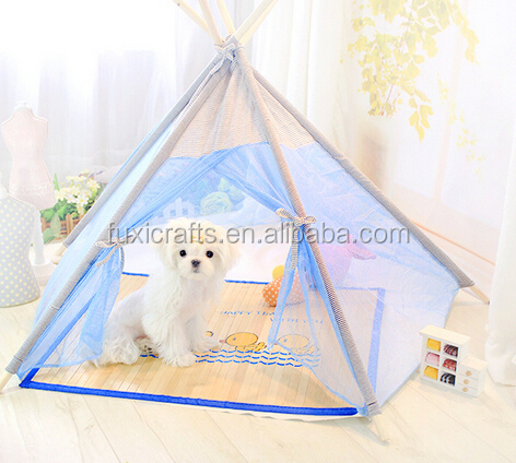 2016 hot selling pentagon gauze tent for pet tent puppy cat tent
