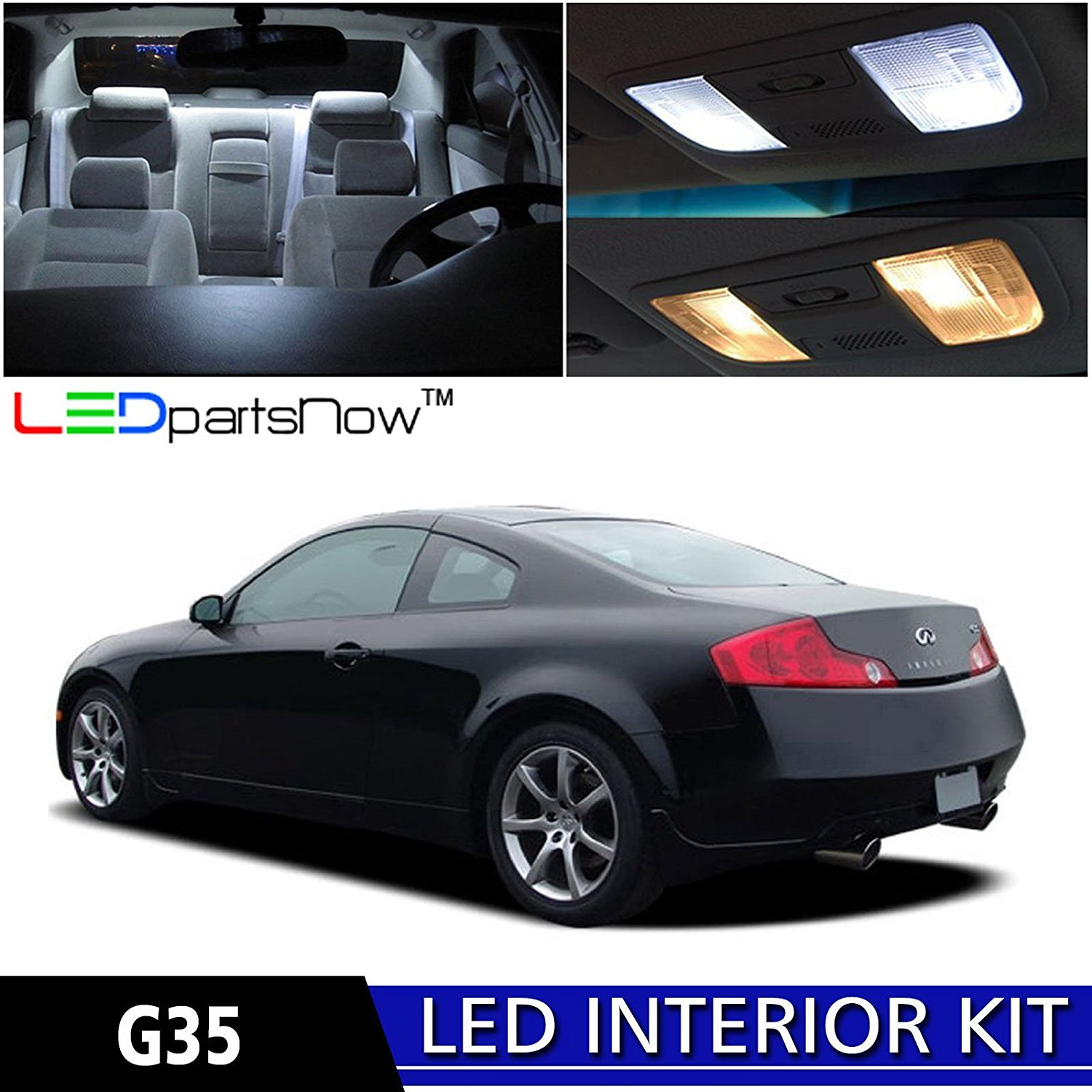 Get Quotations Ledpartsnow 2003 2007 Infiniti G35 Coupe Led Interior Lights Accessories Replacement Package Kit 7