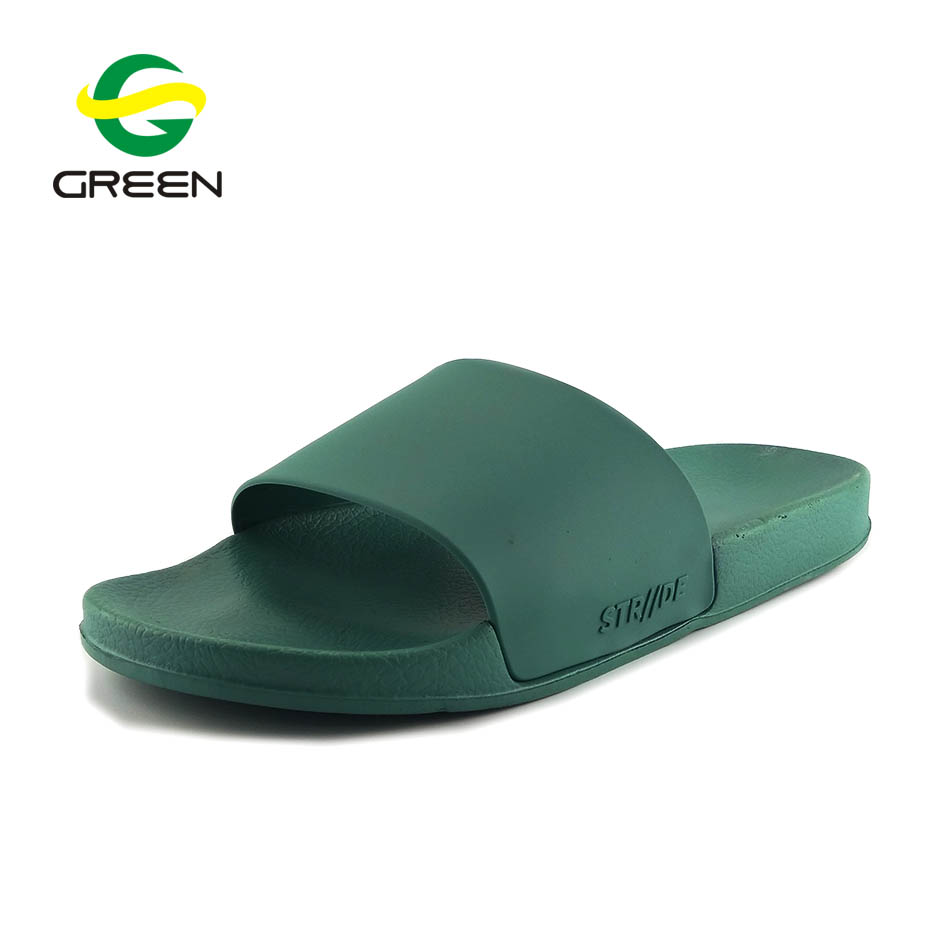 Greenshoe wholesale slippers simple design ladies fancy flat <strong>sandal</strong> custom logo slide lady <strong>sandals</strong>