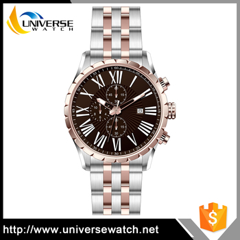 Day Date Wris Ches 10 Atm Water Resistant Stainless Steel Back Multifunction Watch