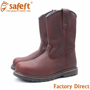 Italian bulk used heated leather no lace wholesale steel toe men safety work boots made in china