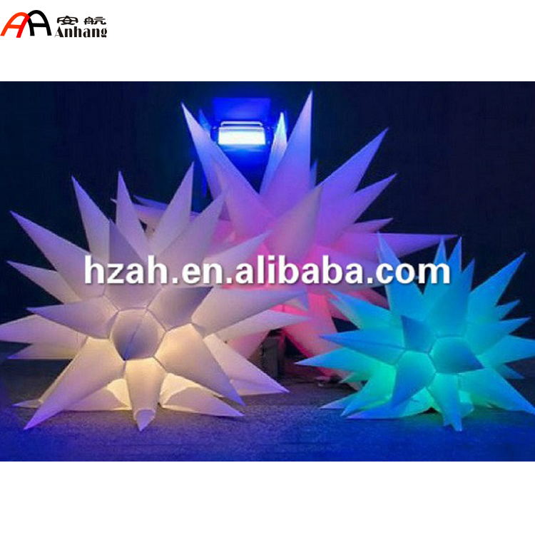 Inflatable LED Color Stars/ Christmas Decoration Inflatable Air Star Balloon