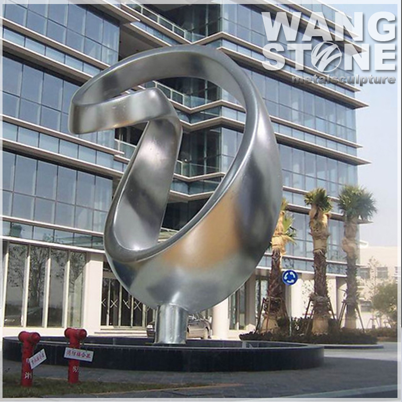 Hotel Project Urban Stainless Steel Wrought Sculpture