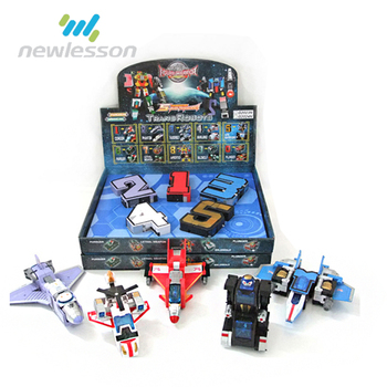Transformable Number 1-5 Robot Airplane Factory Price Education Toy