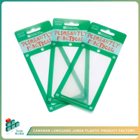 JUNDA Wholesale Personality Unique Plastic Hang Tag/Swing Tag PVC Tag For Garment