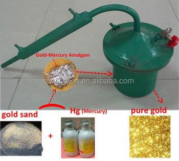 small scale mini laboratory gold mercury hg amalgam pot retort price