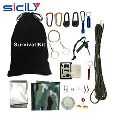Outdoor Survival Kit, Emergency Survive Tool Pack for Hiking, Trekking , Camping and Other Emergency Situations