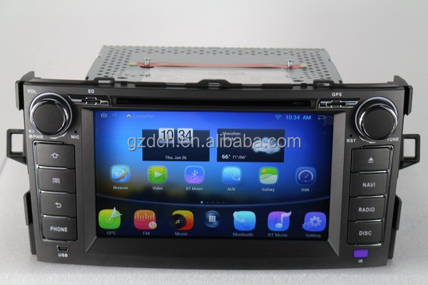 8 inch HD 1024*600 5.1 android car dvd for <strong>TOYOTA</strong> <strong>corolla</strong> Support DVR TPMS Front Camera 1g+16g WS-9123