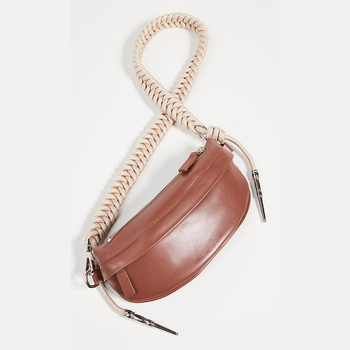2019 brand wholesale pu leather waist belt bag fashion ladies fanny pack rope shoulder strap bumbag pouch coin purse for women