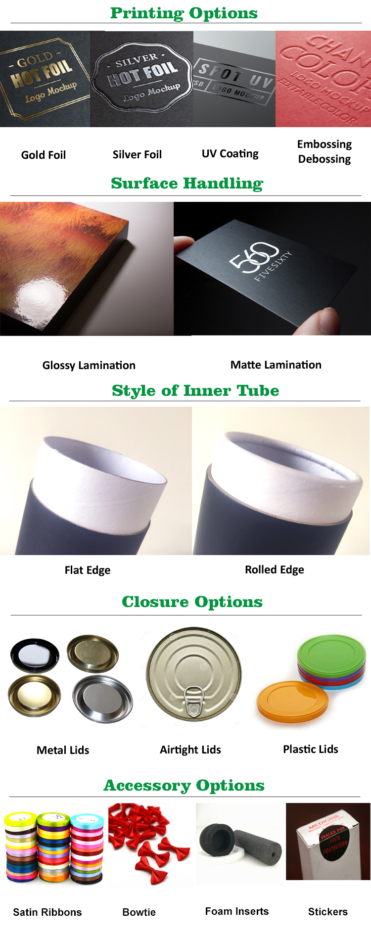 Luxury recyclable paper tube packaging for candle