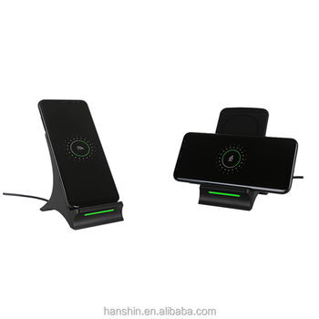Universal Qi Fast Wireless Charger Stand 2 coils With Radiating Fan S550 For Samsung Galaxy S8 ,iPhone X