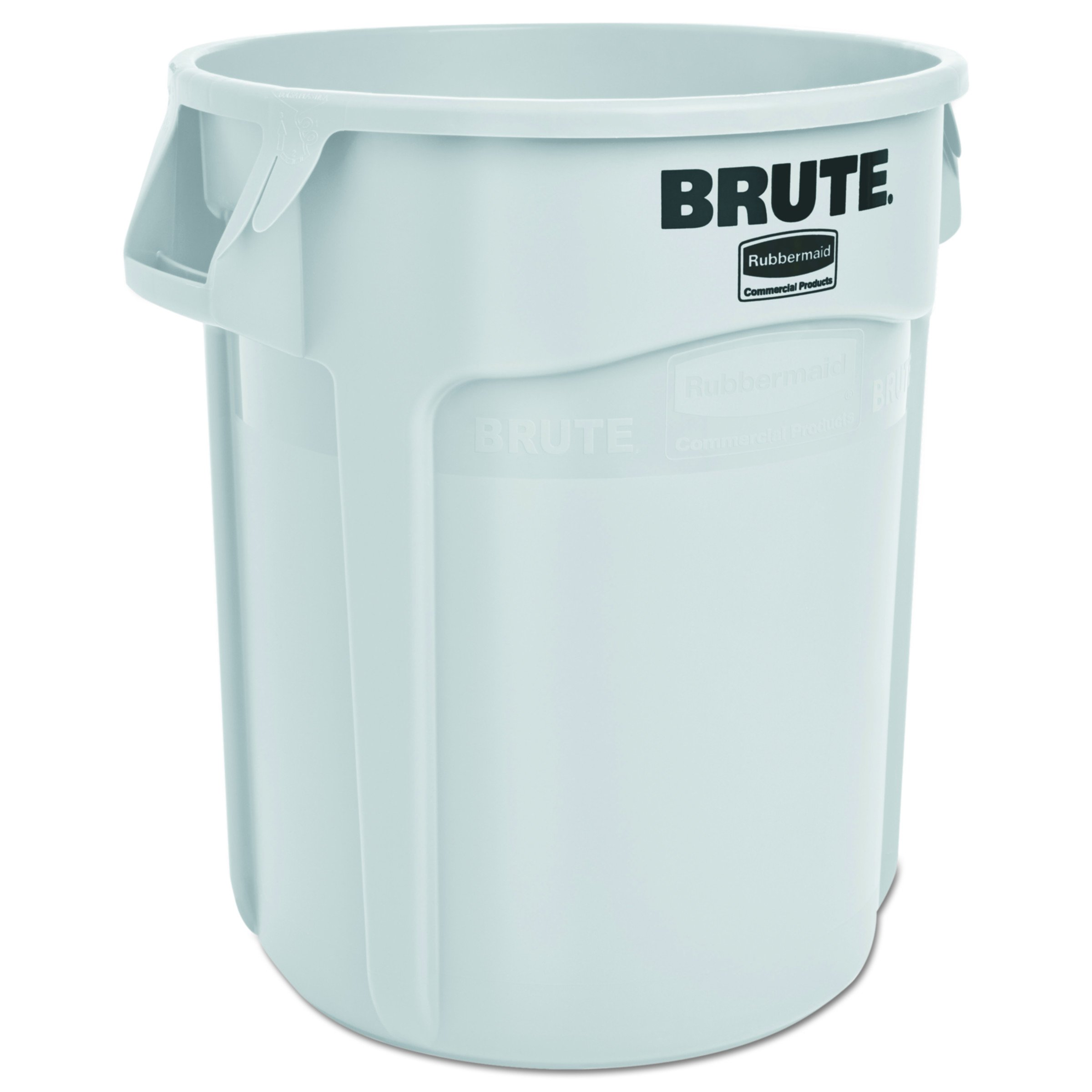 Rubbermaid Commercial RCP 2620 WHI Round Brute Container, Plastic, 20 gal, White