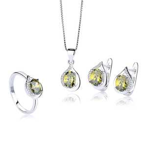 BS019 new design fashion crystal jewelry sets for women