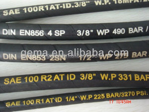 SAE high pressure rubber hose black welding hand press hydraulic hoses manufacturer for cheap Smooth Surface Hydraulic Hose