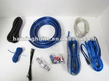 CAR AUDIO BLUE 4 GAUGE STANDARD AMP / AMPLIFIER POWER WIRING KIT