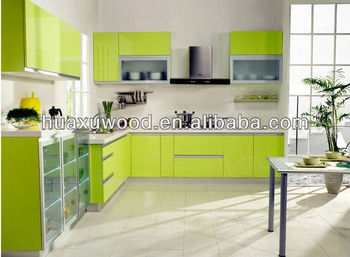 Can Be Customized Apple Green Whole Kitchen Cabinet - Buy Commercial ...