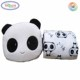 C920 Cute Panda Velvet Plush Coral Fleece Throw Pillow Blanket Black White Panda Bear Velvet Blanket