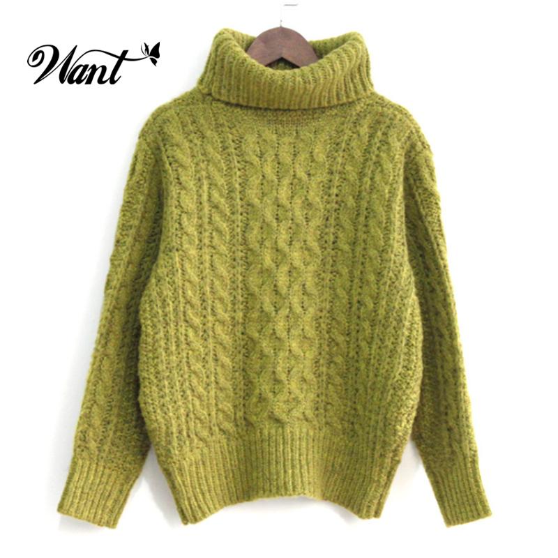 want cute winter long sleeve oversized turtleneck sweater