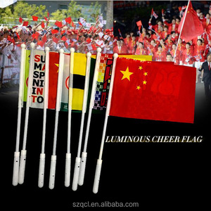Led Flag Popular Mini 2ft Spiral Dream Led Hand Whip Flag For Children Atv Car
