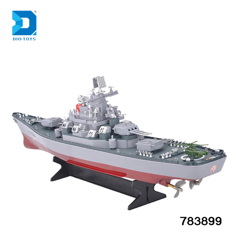 Remote Control Boat Hengtai Upgraded 1:250 High Speed RC Boat with light