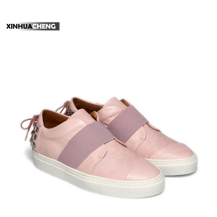custom wholesale beautiful pink ladies casual sneakers