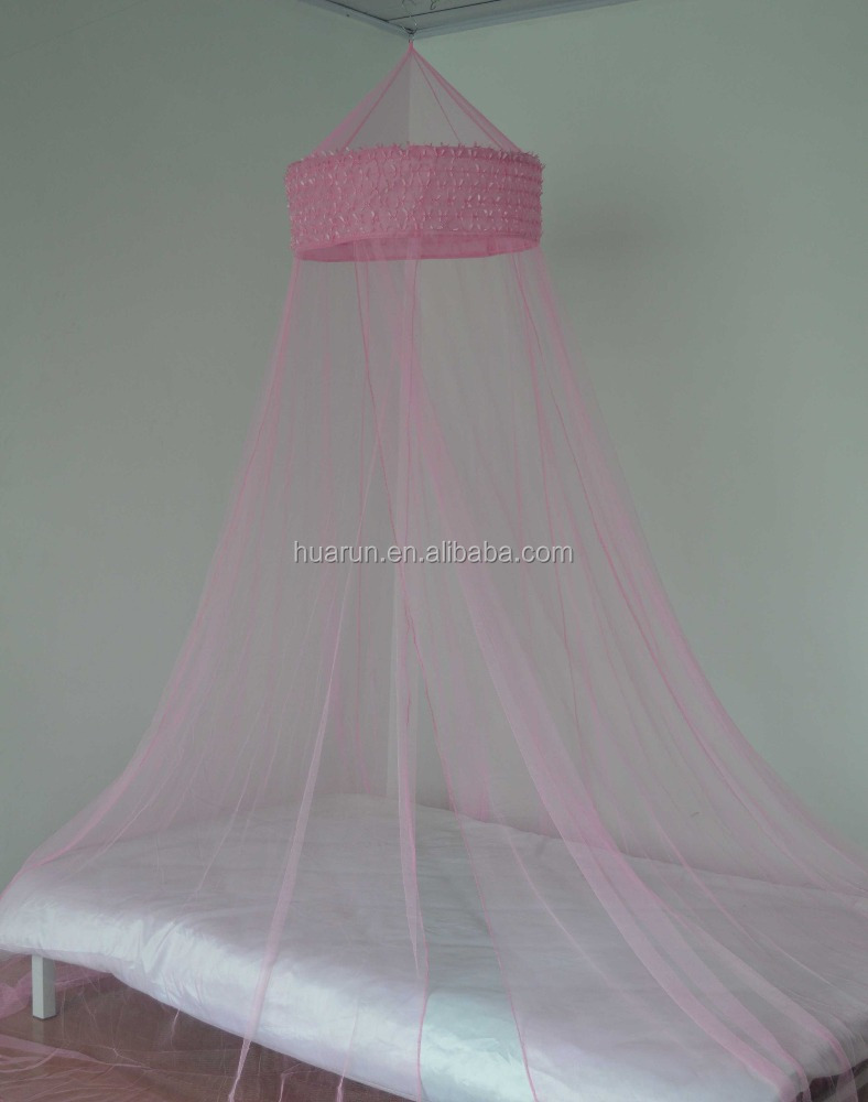 pink girls bed canopy with princess style