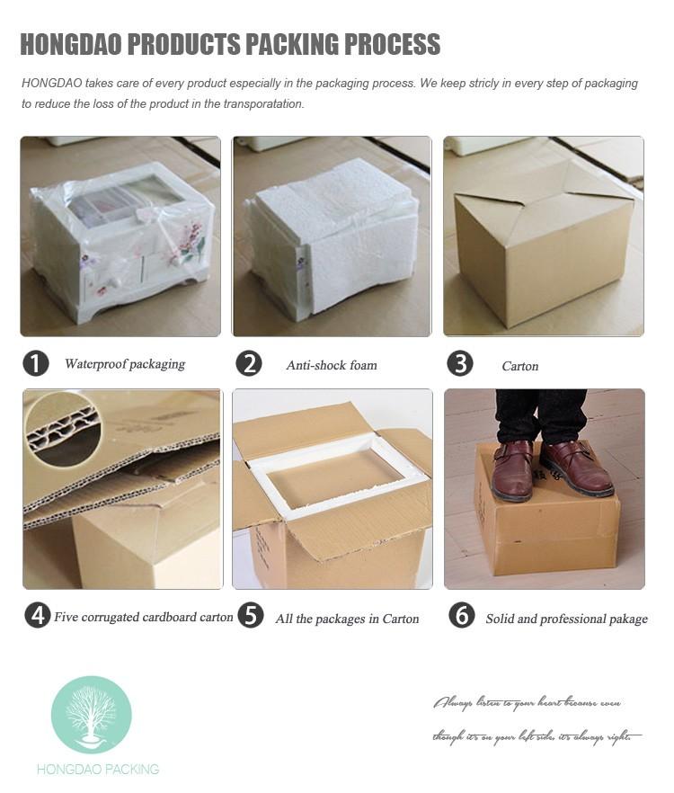 HONGDAO Custom Wooden Wedding Photo Album Gift Box With Photography USB Flash Drive And