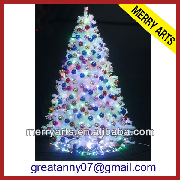 Alibaba China supplier fiber optic christmas tree power supply inflatable christmas tree with xmas ball indoor decoration