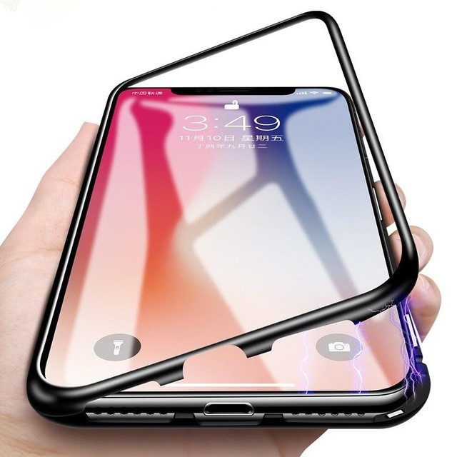 Magnetic case for iphone XS case covers glass mobile phone case for iphone XS MAX фото