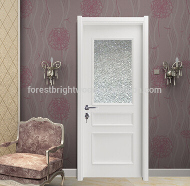 Wood Bathroom Frosted Glass Interior Door Buy Frosted Glass