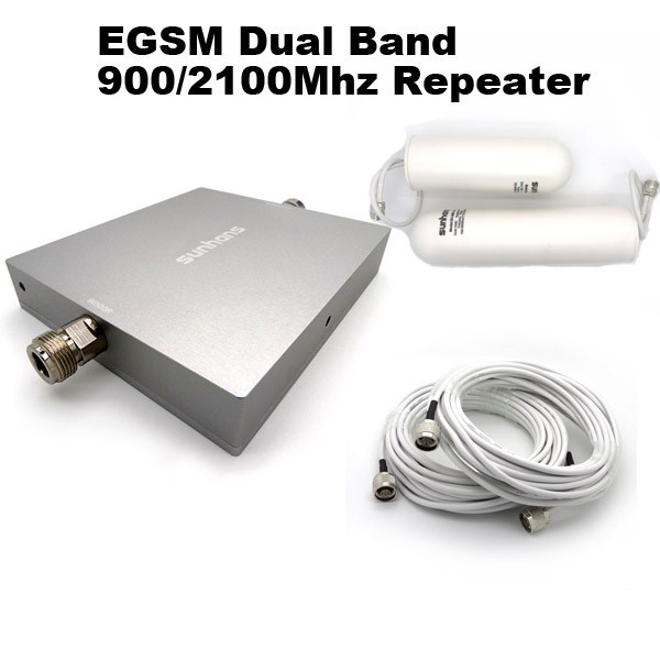 EGSM 900/2100MHz Dual Band Mobile Signal Booster Amplifier Cell Phone Signal Repeater Kit