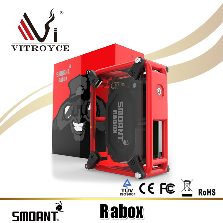 Best selling e-cigarette Smoant RABOX 100W 3300mAh Mechanical Mod from alibaba