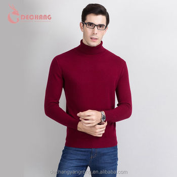 high quality winter soft cashmere pullover knitted turtleneck knit sweater men