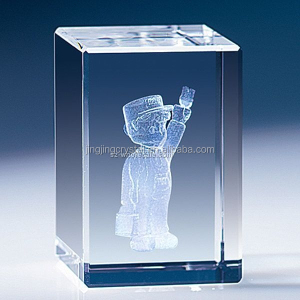 crystal crafts 3D inner laser picture or engraving cube