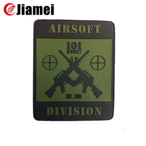 cheap Promotional design patches custom hot selling US military uniform cap pvc badges