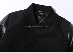 Leather sleeve sweatshirt top quality with latest customized design