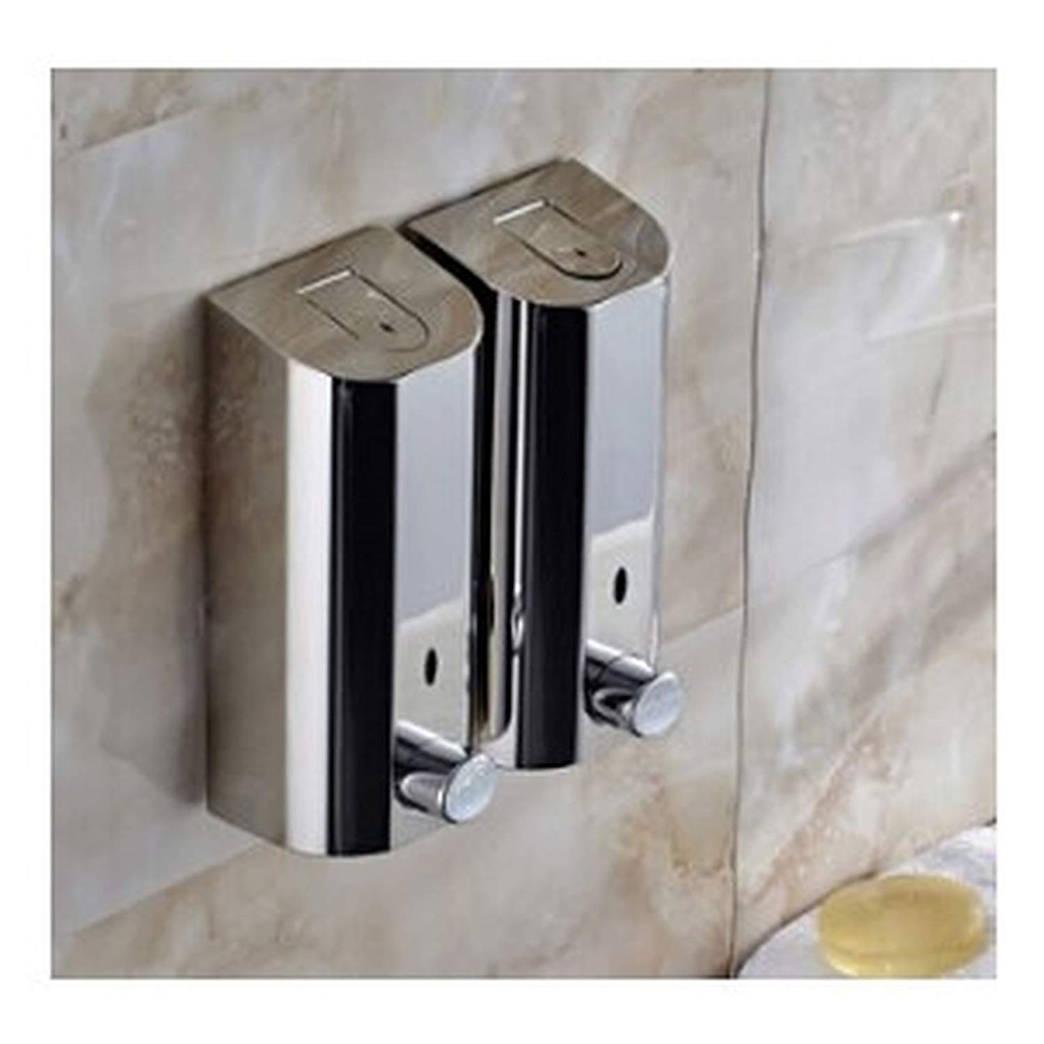 Stainless Steel Wall Mounted Hotel Hand Liquid Soap Dispensers/kitchen Soap 3 Size (1000 ml.)