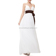 Women OEM/ODM Manufacturer V Neck sexy Prom /Evening Dresses Made In China
