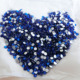 Pujiang Factory Direct Sale 3D Nail Decorated Blue Rhinestones