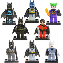 8pcs lot Batman Super Hero Kid Baby Toy Mini Figure Building Blocks Sets Model Toys Minifigures
