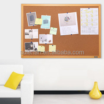 Pine Wood Frame Customized Wall Mounted Cork Bulletin Board Office ...