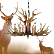 Antler Chandelier Hotel Large Chandelier Furniture American Country Style